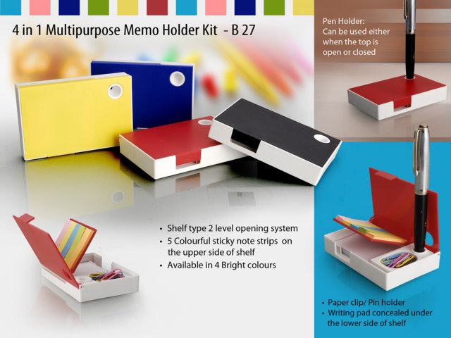 4 in 1 multipurpose memo holder kit