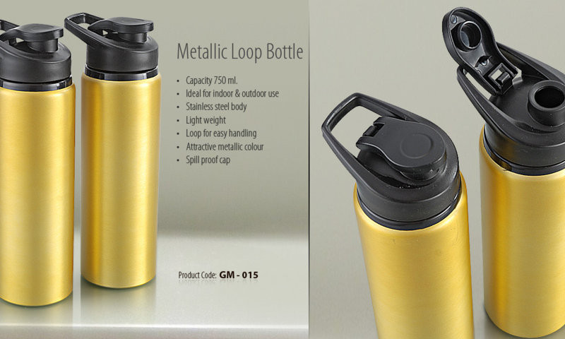 Sipper METALLIC LOOP BOTTLE