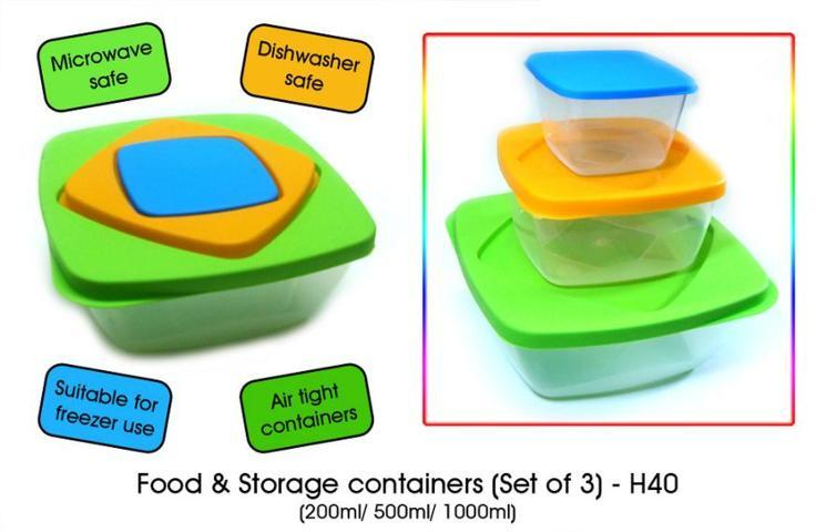 PLASTIC CONTAINER SET SMALL