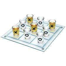 DRINKING TIC TAC TOE GAME