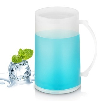 BLUE LIQUID FILLED MUG