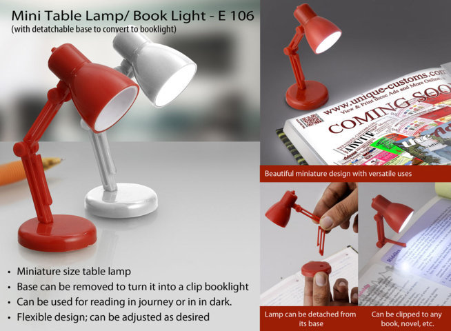Mini table lamp / booklight