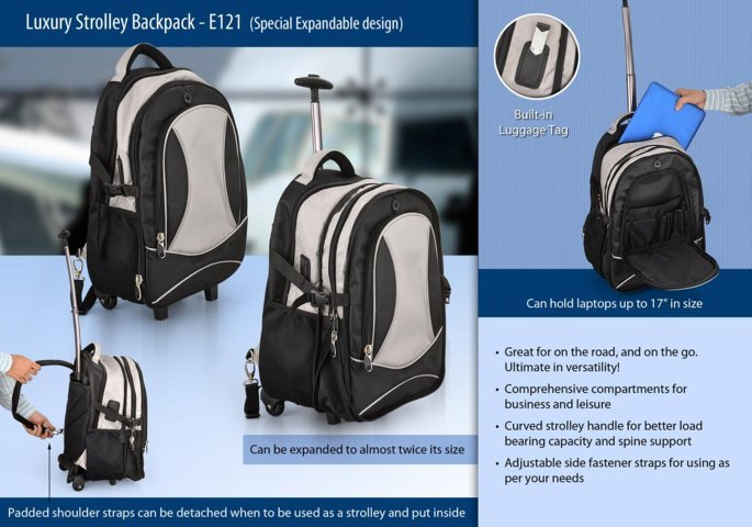Luxury strolley backpack (Special Expandable design)