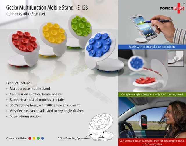 Geeko Multifunction Mobile Stand ( for Home, office / Car Use)