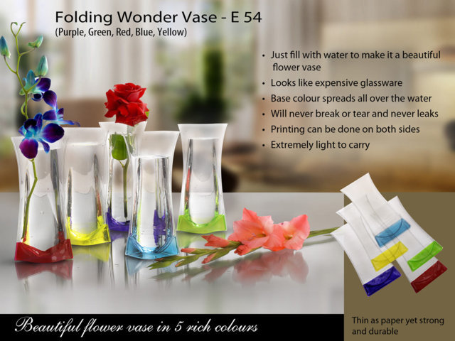 Folding Wonder Vase (Unbreakable, Leakproof, Easy to carry)