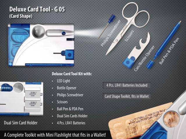 Deluxe Card Tool Kit- Card Shape