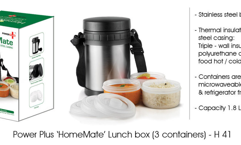 Power Plus 'Home mate' Lunch Box - 3 container