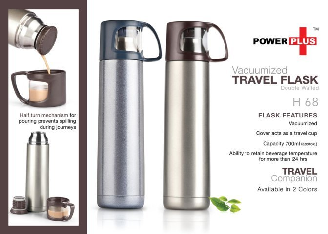 Vacuumized Travel flask (700 ml approx)
