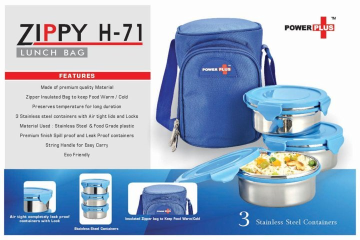 Zippy Lunch bag- 3 containers (metal)