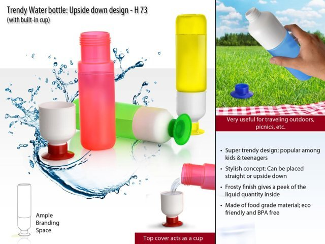 Trendy Water bottle (Upside down design)