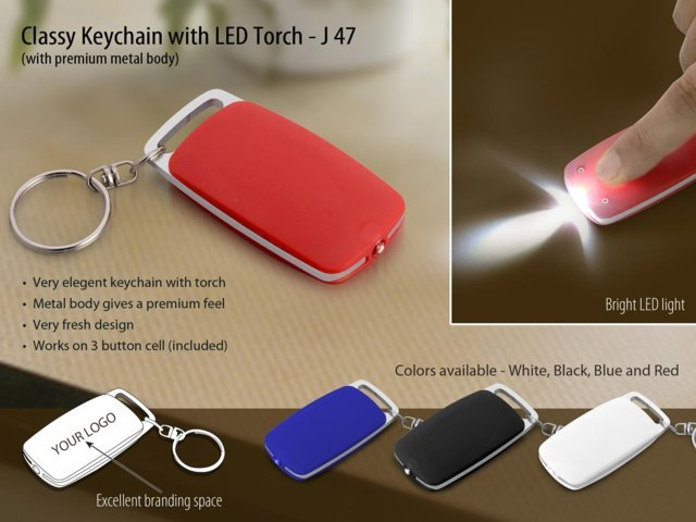 Classy key chain with LED torch