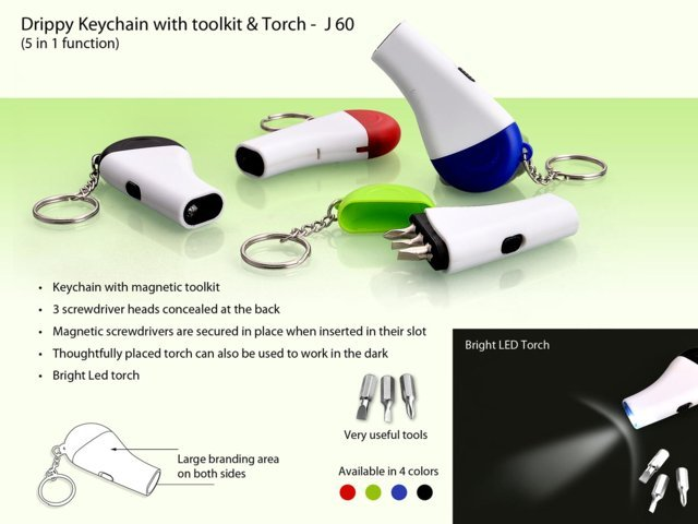 Drippy Key chain with torch and toolkit (3 tools)
