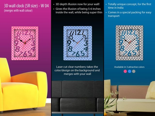 3D wall clock (5R size)