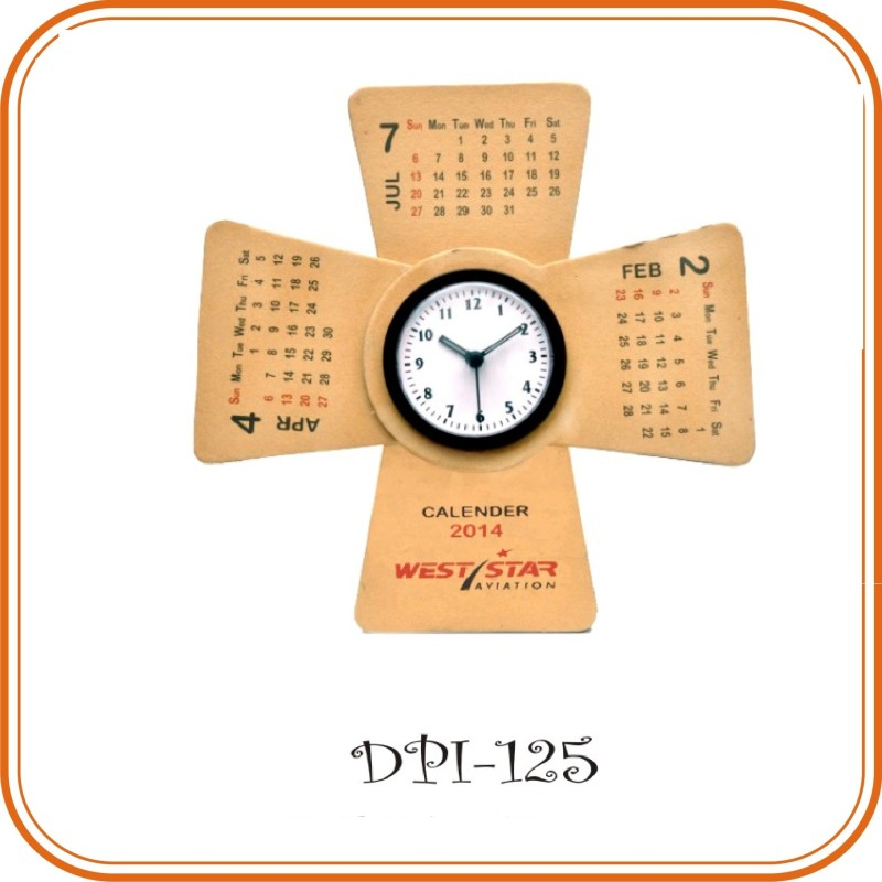 Table Clock with Calendar Clock