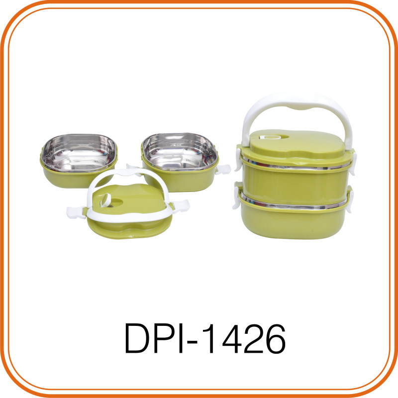 ELEGANT TWO LAYER SQUARE LUNCH BOX