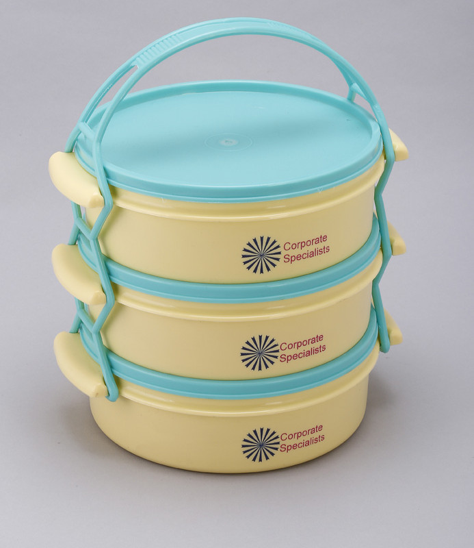 Economy Lunch Box ( 3 containers ) - Yellow and Green