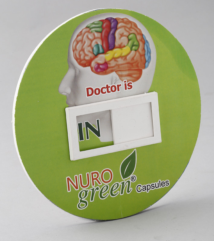 Door Hanging Round - Dr. In and Out - Digital Printing