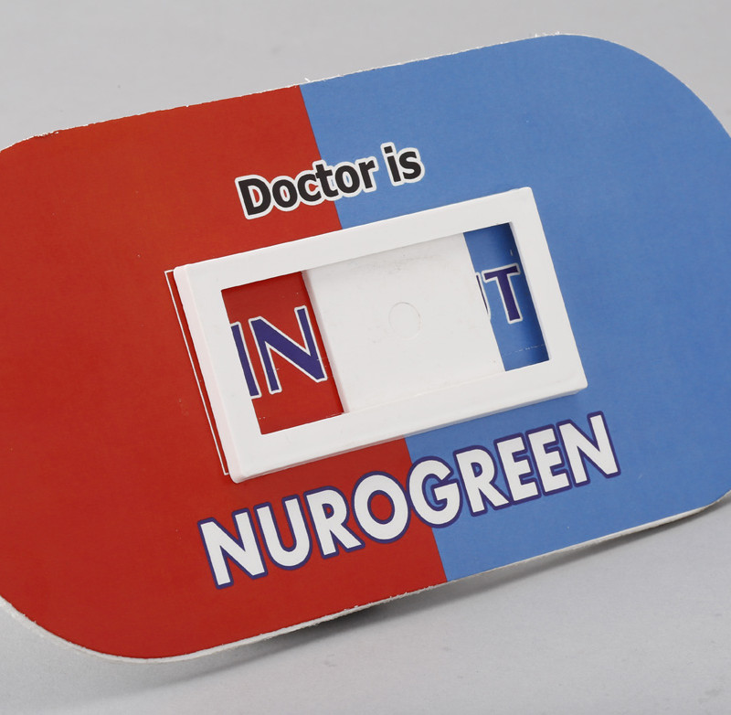 Door Hanging Capsule Dr. In and Out - Digital Printing