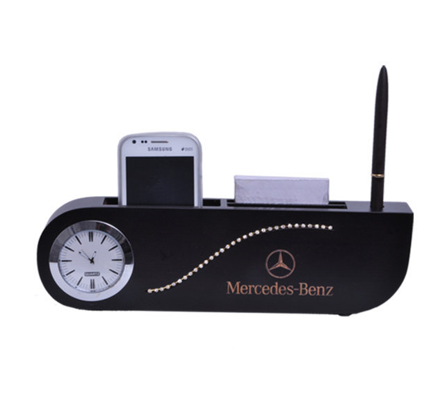 Customised Penstand diamond with Big Watch & Ball pen- MERCEDES BENZ