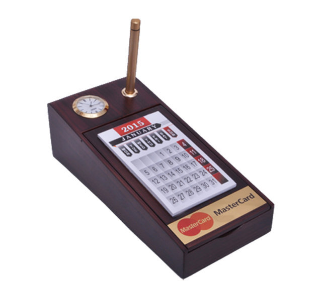 Customised Pen Stand with Calculator- MASTER CARD