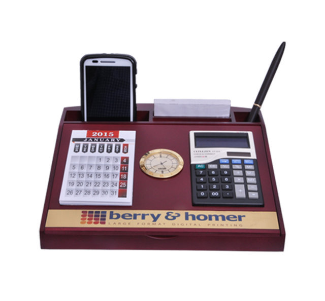 Customised Pen Stand with Calculator & Calender - Berry & Homer