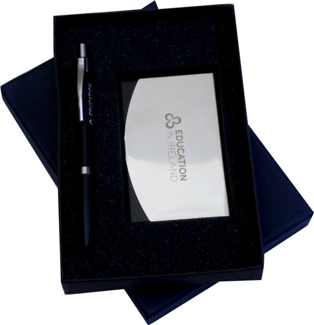 Customised 2 Pc Gift Set - Card Holder & Pen- EDU in Ireland