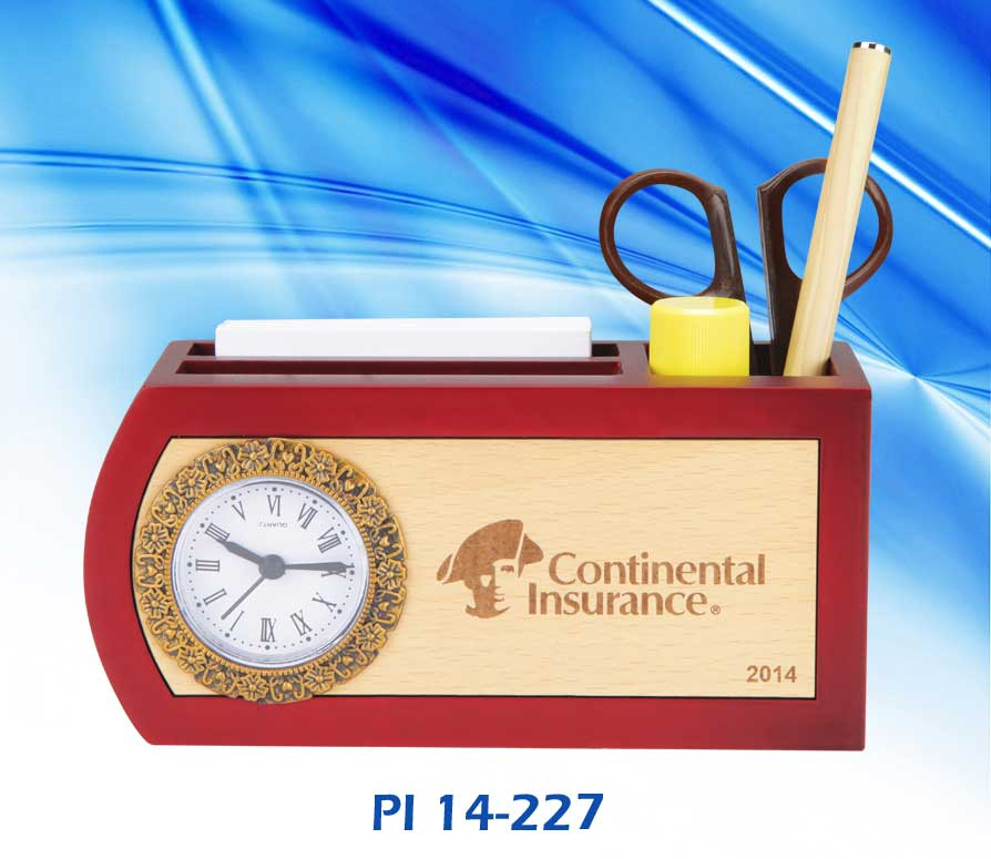 Wooden Table Top With Pen Stand – Model Continental