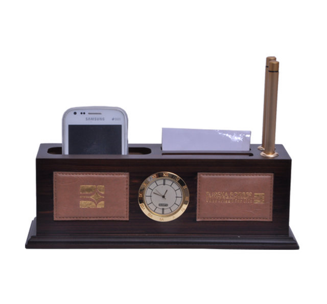 Customised Pen Stand with Leather Finish -Eureka Forbes