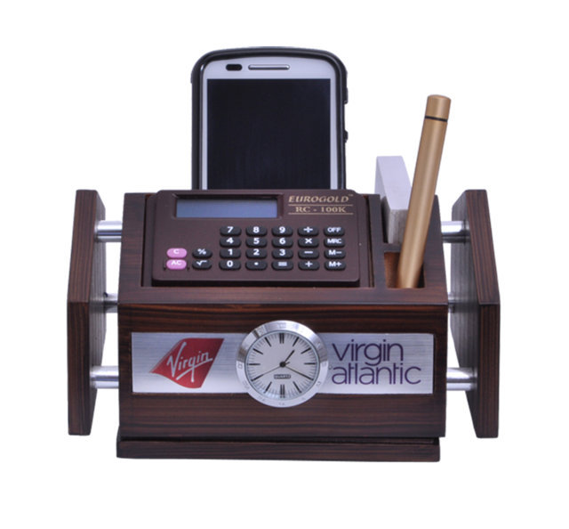 Customised Pen Stand Revolving with Calculator - VIRGIN ATLANTIC