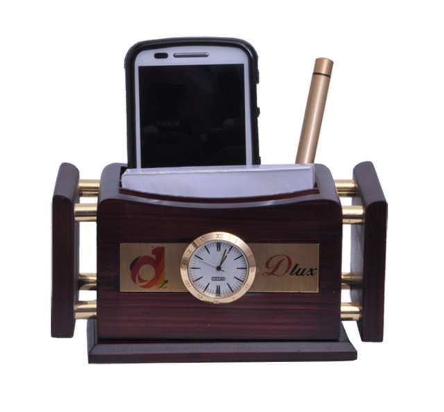 Customised Revolving Pen Stand with Golden Side Rods - DLUX