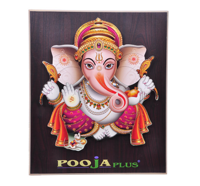 Customised Photoframe Ganeshji - 15¾X13½ - POOJA PLUS