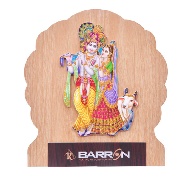"Customised Photoframe Radha Krishan - 9½x9""- BARRON"