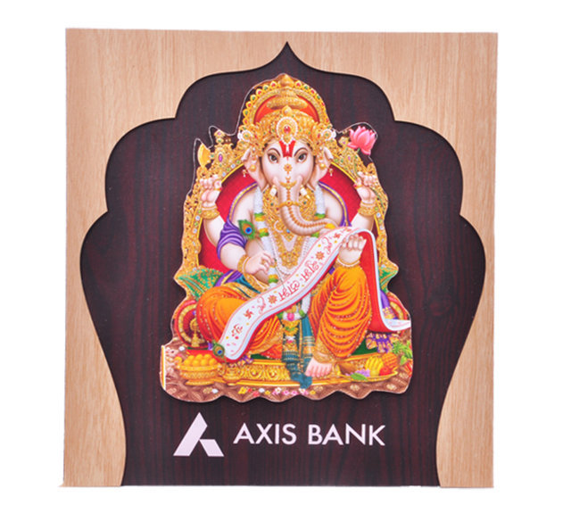 "Customised Photoframe Ganeshji -9½x9""- AXIS BANK"