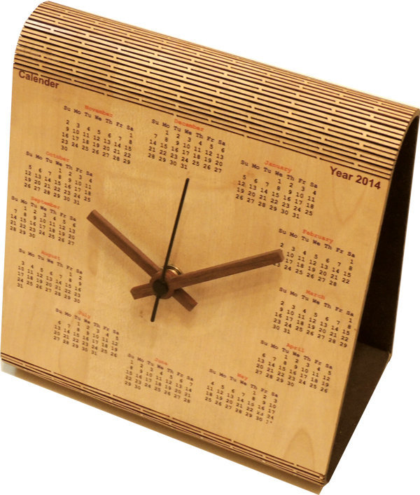 Desktop Table Clock With Calendar