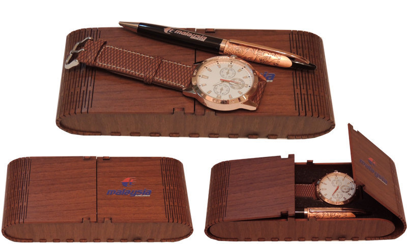 Customised Gift Set with Wrist Watch and Pen - Model Malaysia
